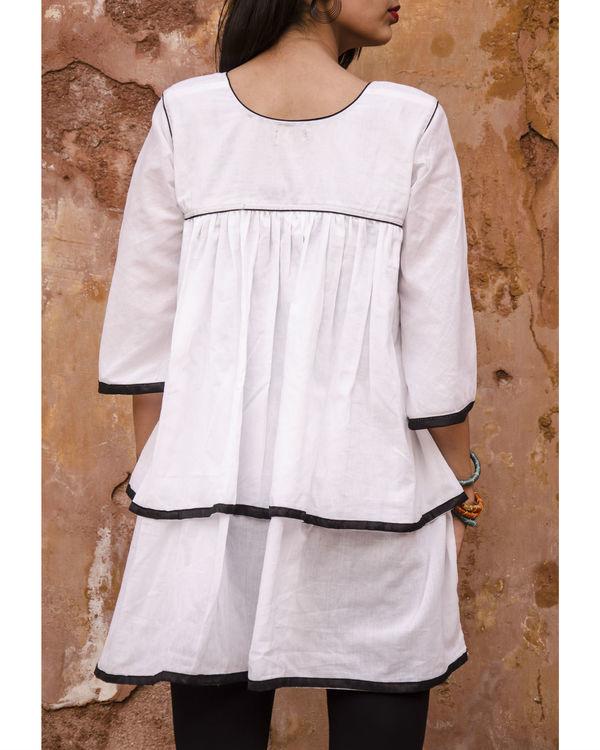 White layered kimono top 1