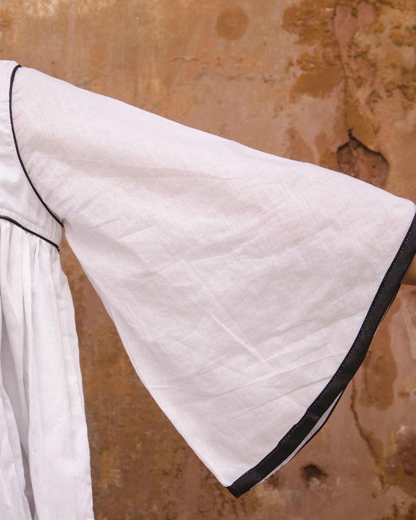 White layered kimono top 2