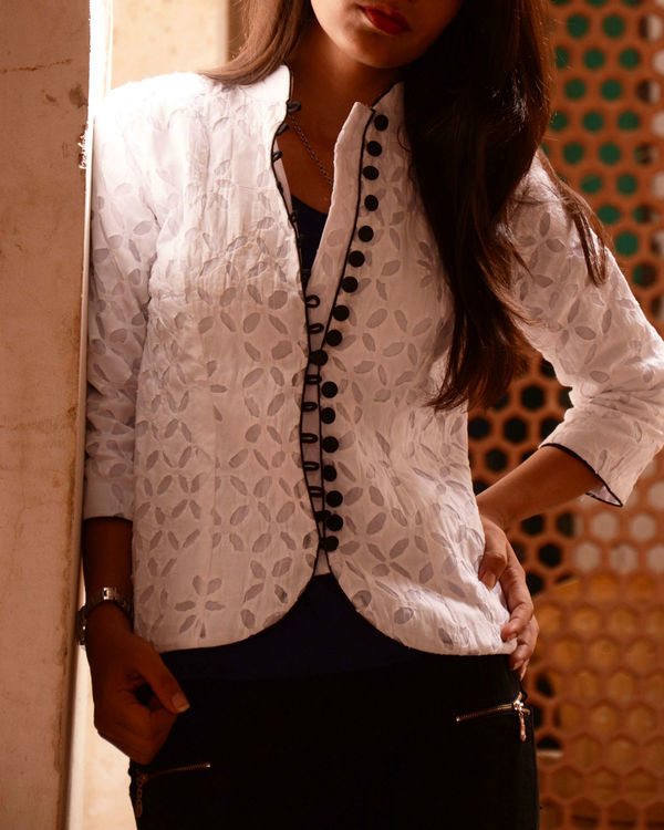 White applique jacket 1