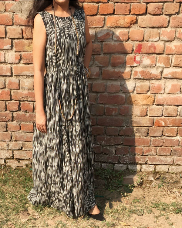 Glazed ikat dress 1