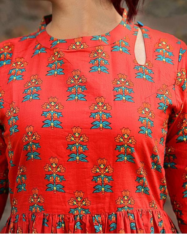 Red phoolbuti dress 3