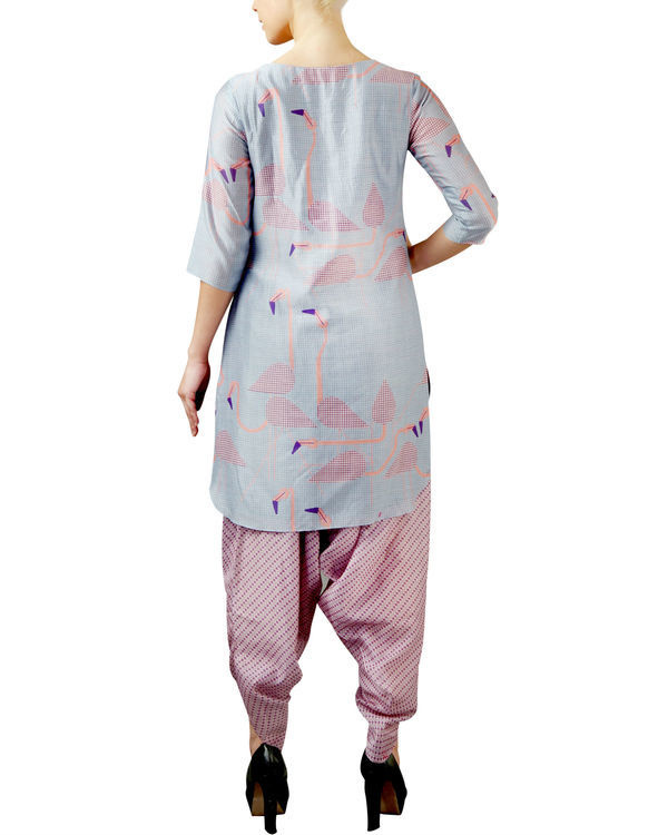 Flamingo blue kurta set 1