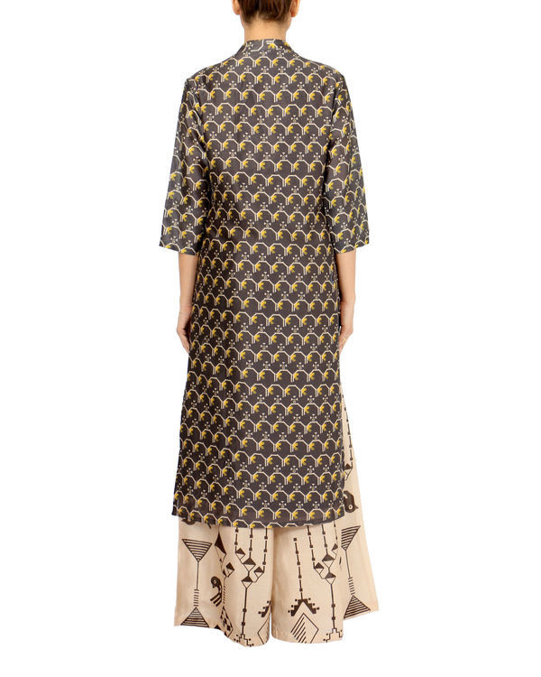 Black beige kurta set 2
