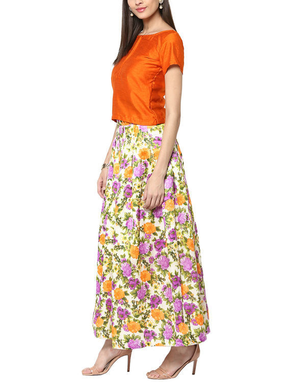 Sunflower top and skirt set 1