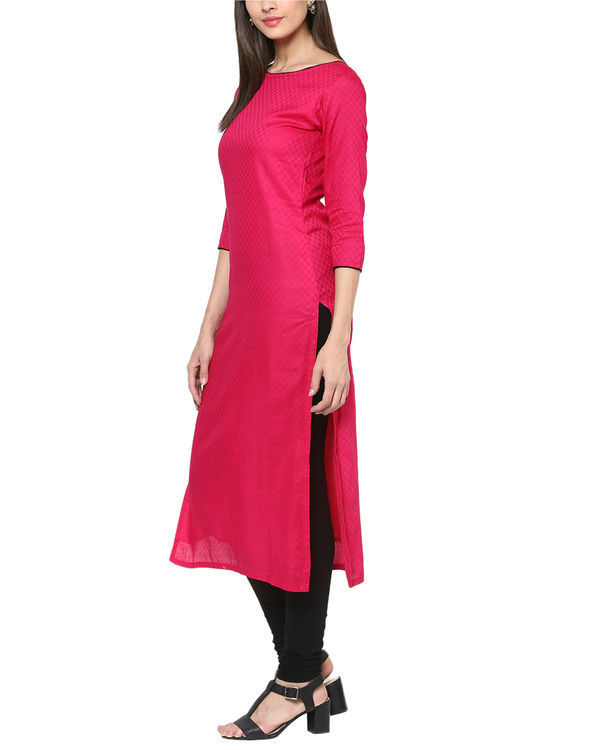 Fuchsia cotton tunic 1