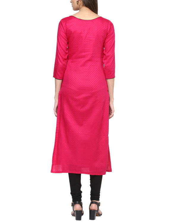 Fuchsia cotton tunic 2