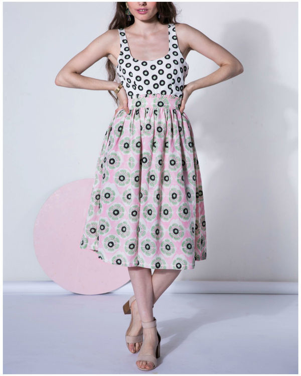 Peony tie-up dress 1