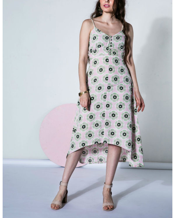 Peony asymmetrical dress 1