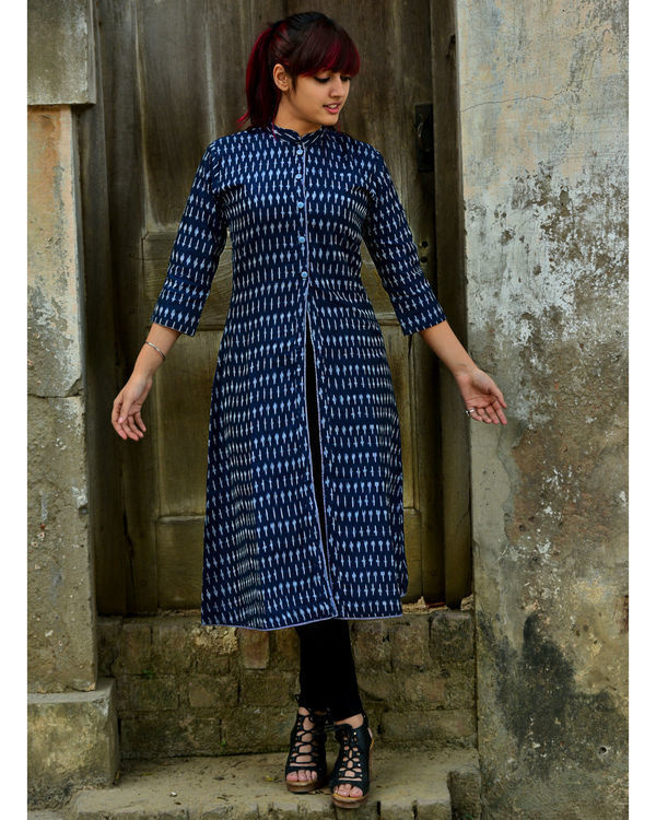 Navy ikat tunic 1