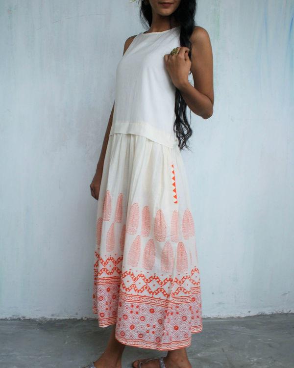 Ivory orange classic dress 1