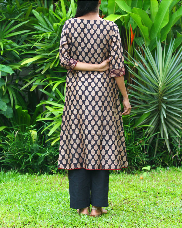 Leaf chanderi kurta 2