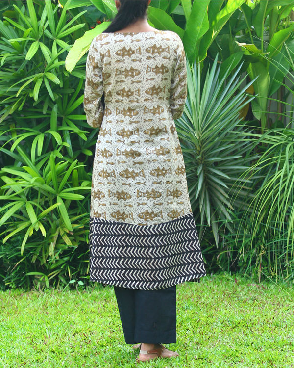 Fish chanderi kurta 2