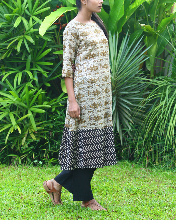 Fish chanderi kurta 3