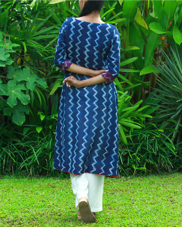 Wave chanderi kurta 2