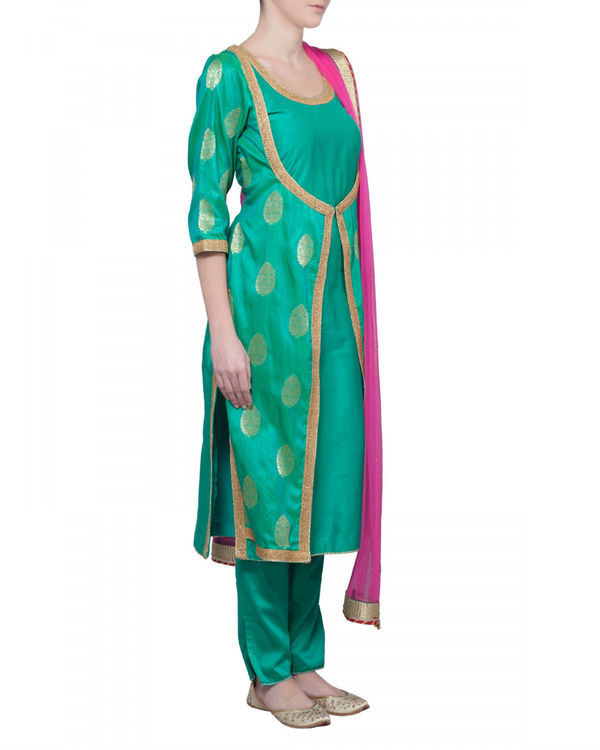 Sea green kurta set 1