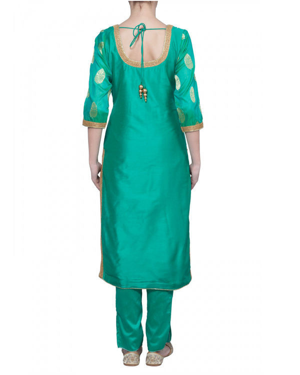 Sea green kurta set 2