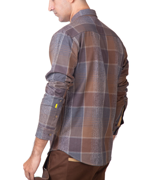 Brown plaid shirt 2