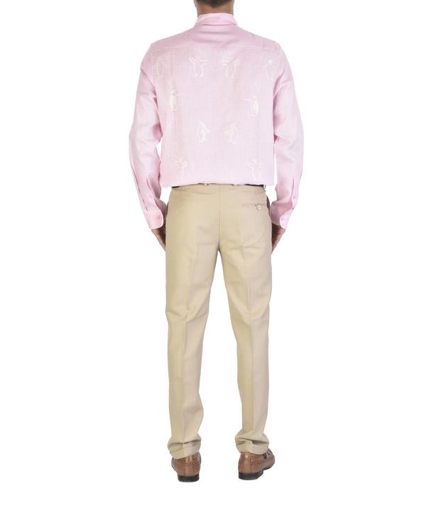 Pink shirt with motif 1