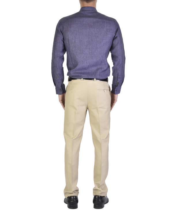 Purple shirt with front yoke 1