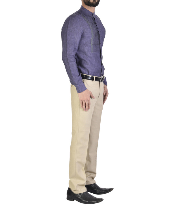 Purple shirt with front yoke 2