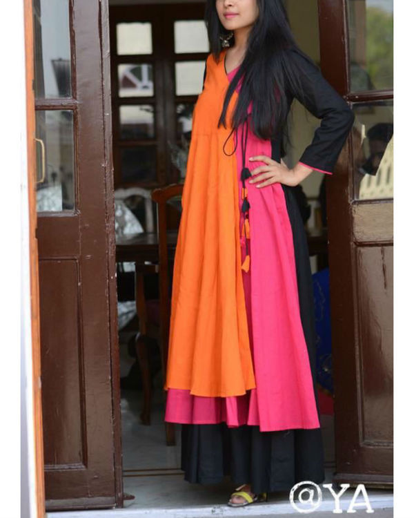 Pink orange angrakha 1