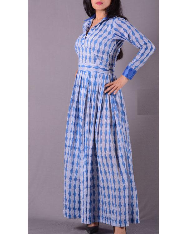 Blue autumn dress 1