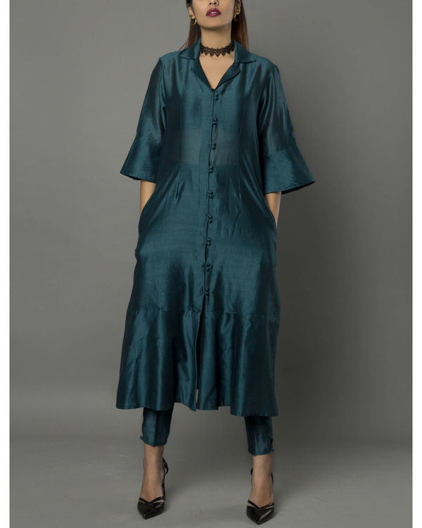 Vira teal kurta set 2