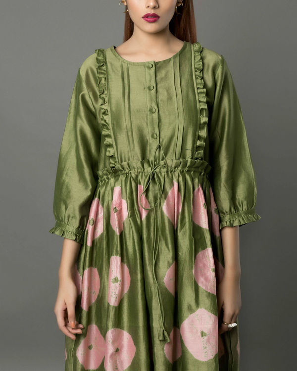 Notte olive dress 1