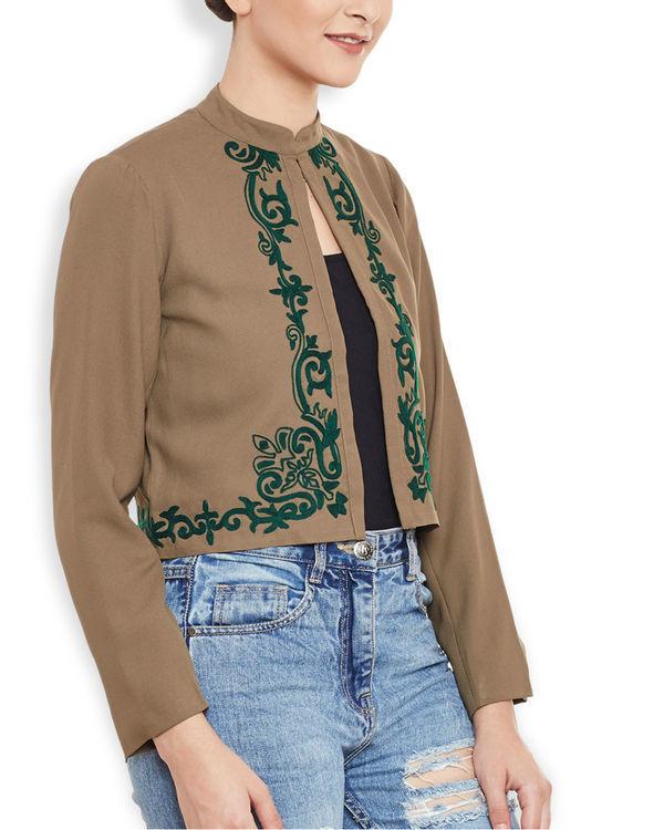 Brown cropped jacket 2