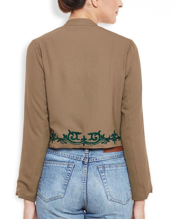 Brown cropped jacket 3