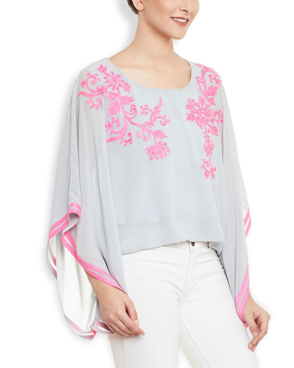 Pink snow poncho 2