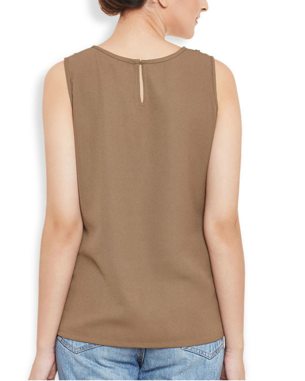 Brown panelled top 3