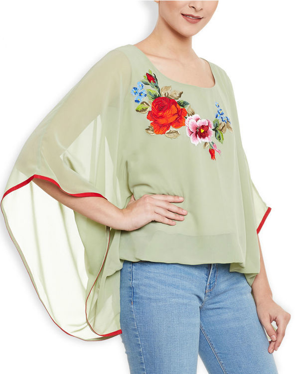 Green poncho top 2
