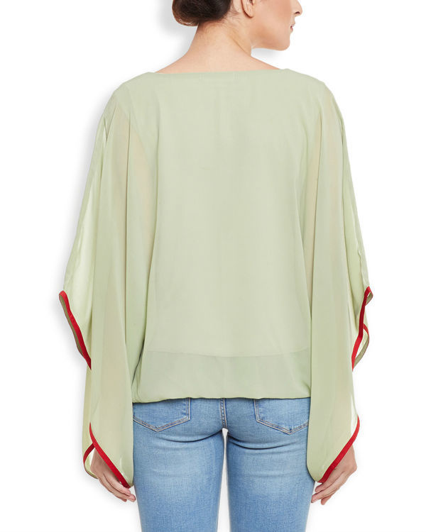 Green poncho top 3