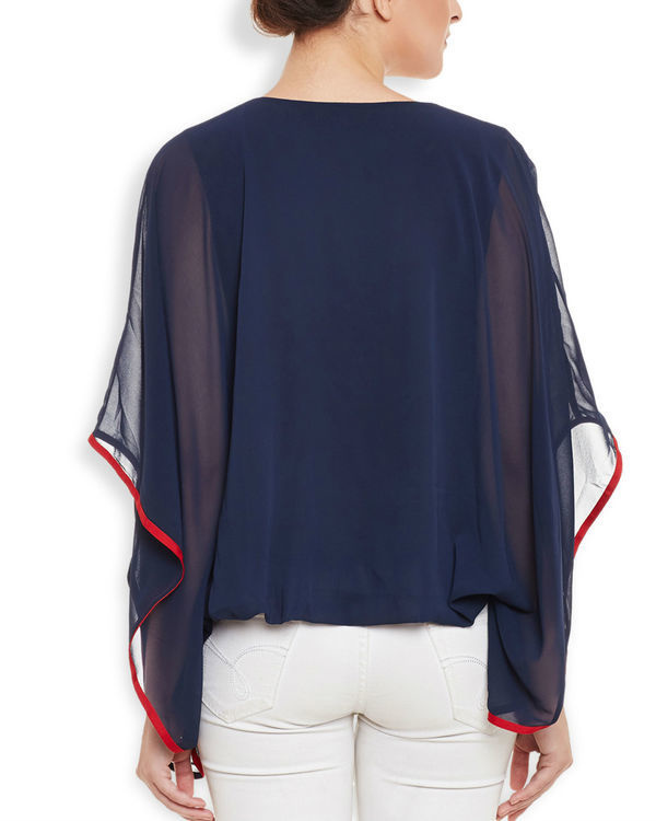 Navy poncho top 3