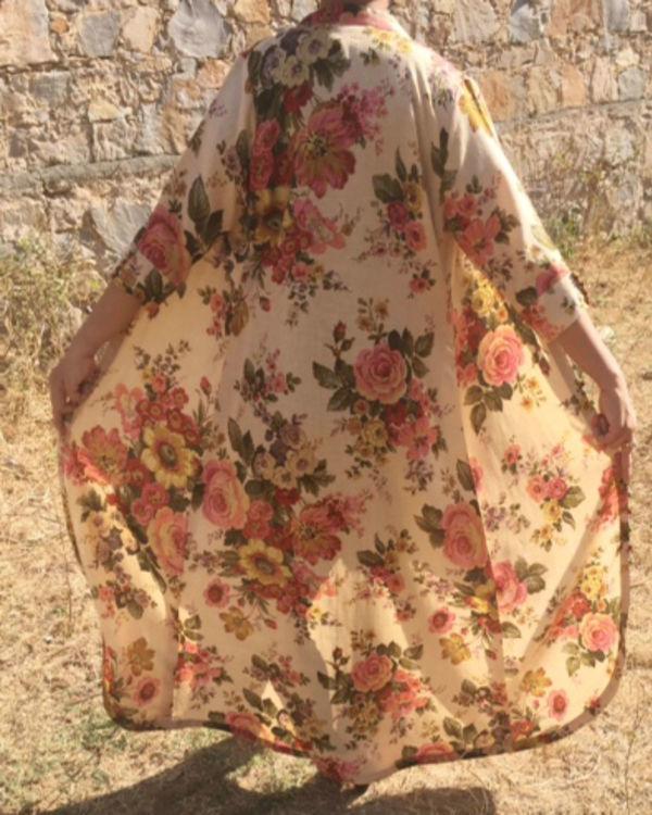 Floral cape shrug 1