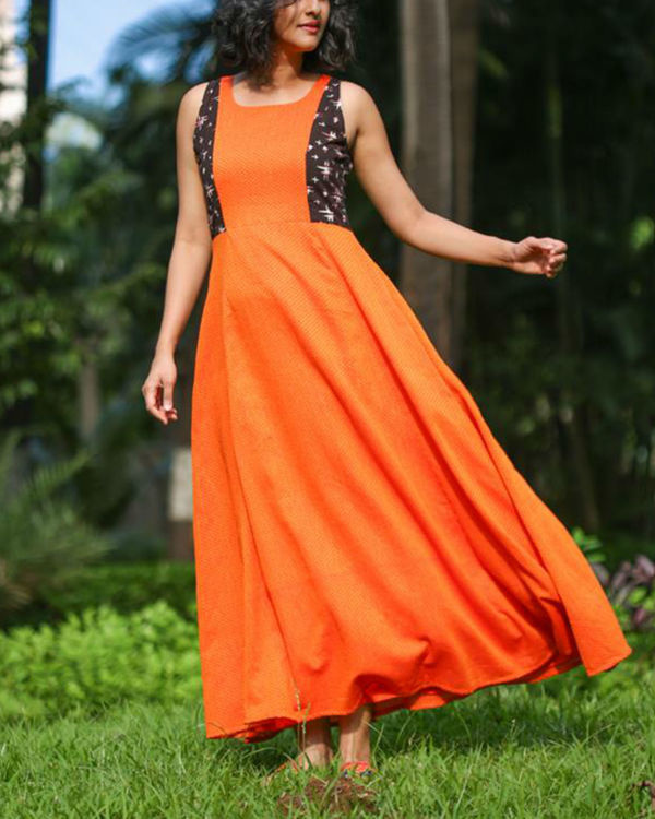 Orange summer dress 2