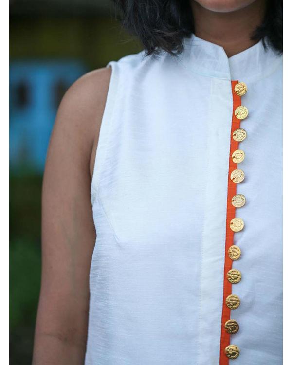 Off white long kurta 1