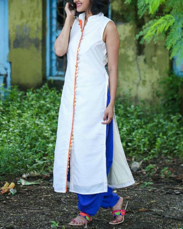 Off white long kurta 2