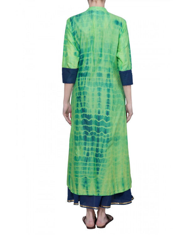 Green tie dye tunic 1