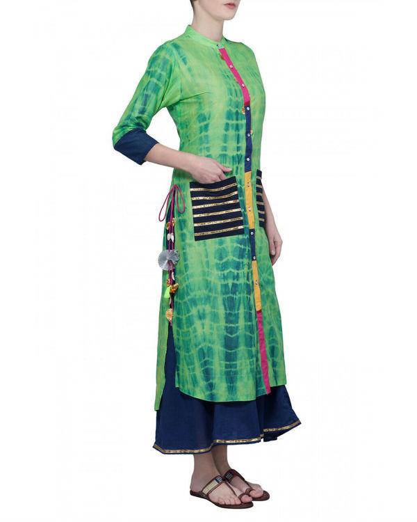 Green tie dye tunic 2