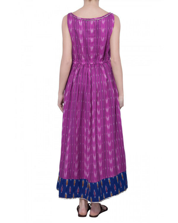 Pink handwoven ikat dress 1