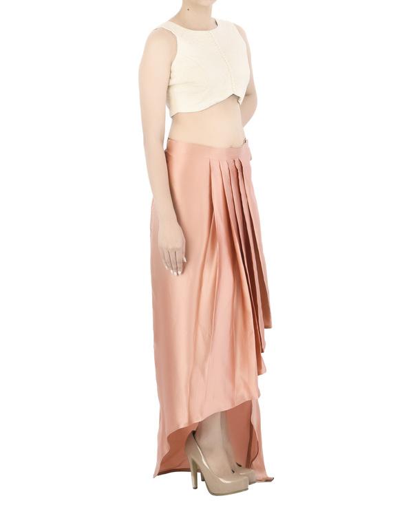 Draped satin skirt 2