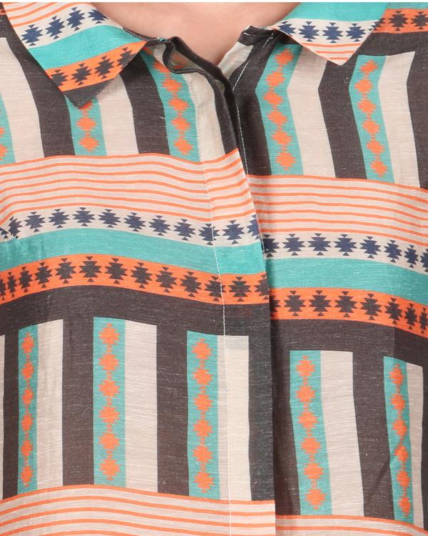 Linen shirt dress 1