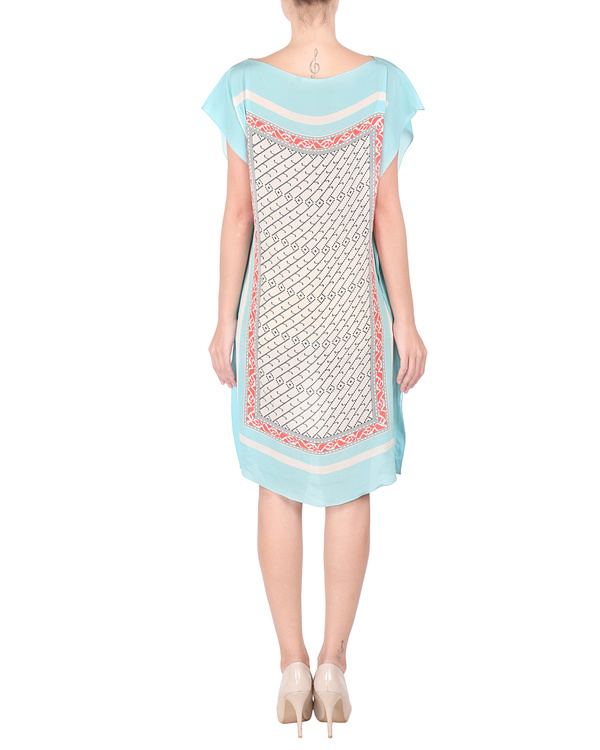 Ice blue crepe dress 2