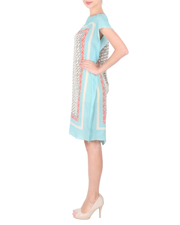 Ice blue crepe dress 3