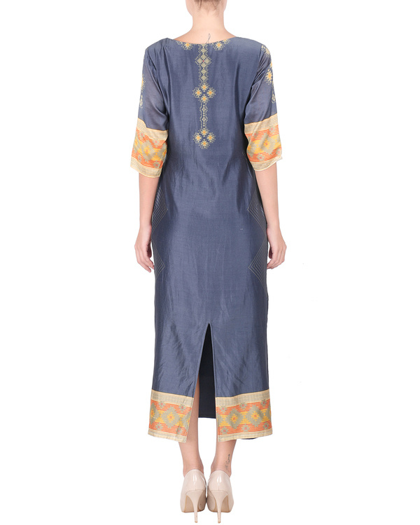 Navy blue long ankle length tunic 2