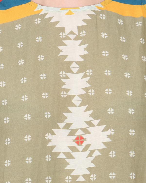 Cotton silk bias cut tunic 1