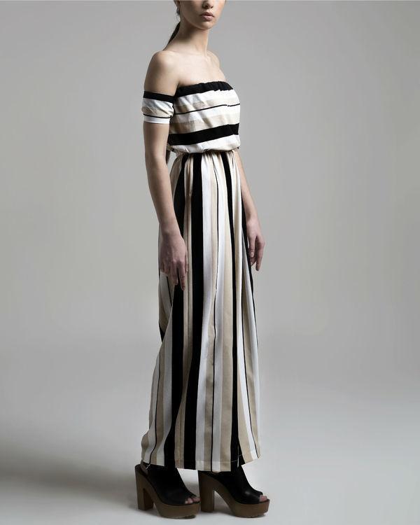 Striped jumpsuit 1