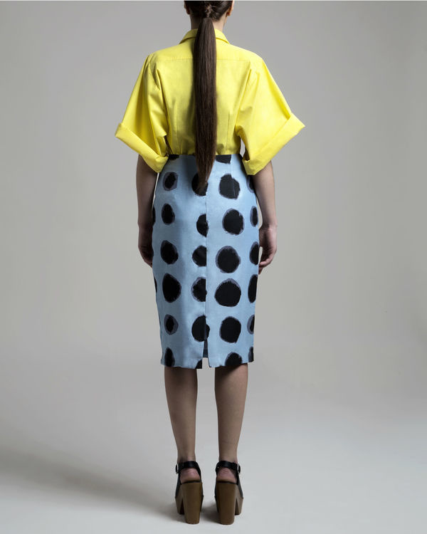 Polka pencil skirt 1